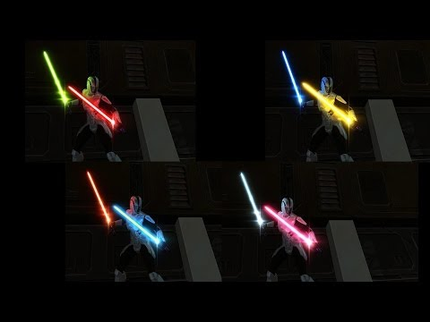 SWTOR - Several Color Crystals and Lightsabers