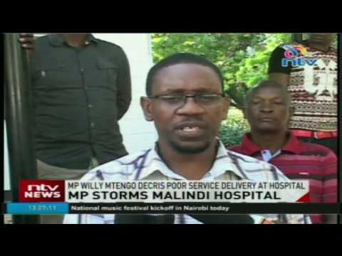 MP Willy Mtengo decries poor service delivery at Malindi hospital