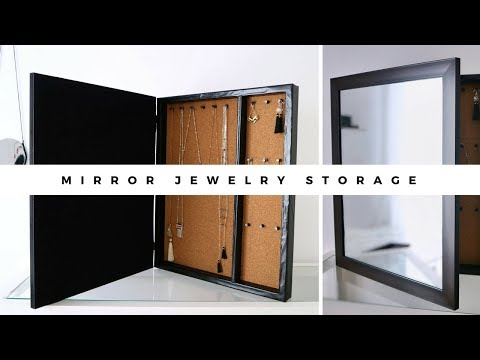 DIY | Mirror Jewelry Storage