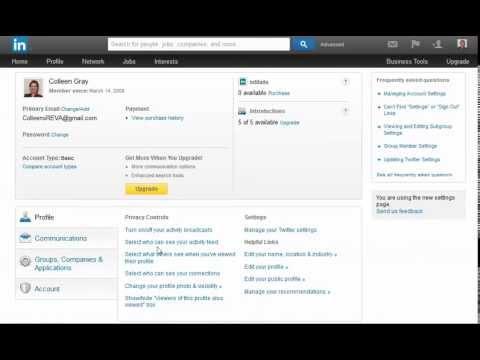 Updating your LinkedIn Public Profile Settings