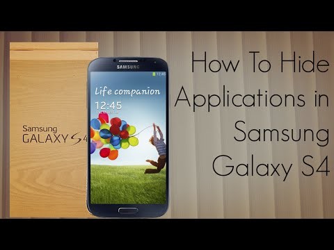 How to Hide Applications in Samsung Galaxy S4 Android Devices Tutorial - PhoneRadar
