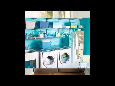 Laundry room organizing decorations ideas