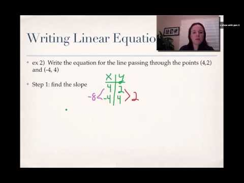 Writing functions given two points