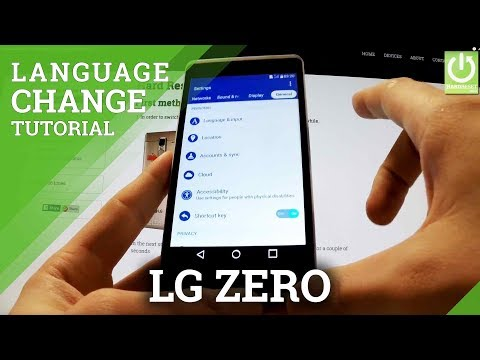 Languages Settings in LG Zero H650E - How to Change Language in LG