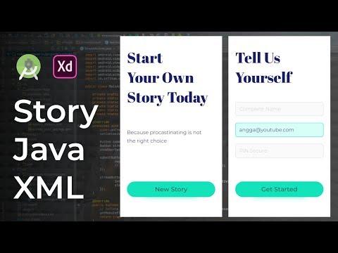 Story UI Design Animation Adobe Xd to Android Studio Tutorial