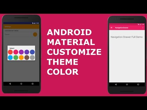 ANDROID MATERIAL DESIGN CUSTOMIZE THEME COLOR