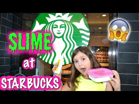 MAKING SLIME WITH AIR FRESHENER AT STARBUCKS! OMG!😱~ Slime In Public Challenge   Sedona Fun Kids TV