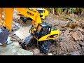 포크레인 장난감 구출하기 중장비 트럭 크레인 자동차 장난감 놀이 Excavator Car Toy Video for Kids