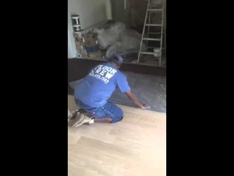 Water popping hardwood flooring