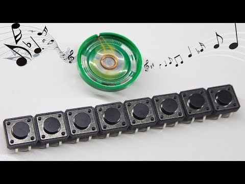 How To Make a Simple Mini Working Piano