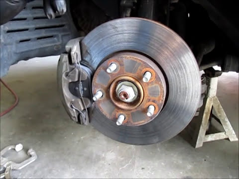 Changing front brake pads on a Mazda 3