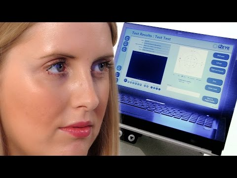 Glaucoma Testing Device Procedure or Visual Field Testing With i2eye Diagnostics SVOP