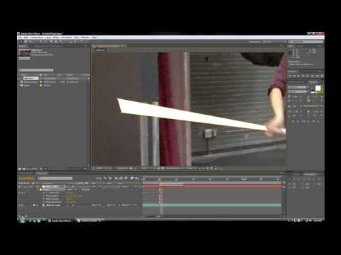 Creating Basic Lightsabers in Adobe After Effects Tutorial HD