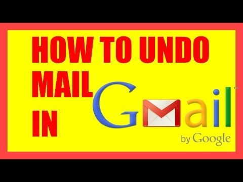 How To Undo Mail in Gmail