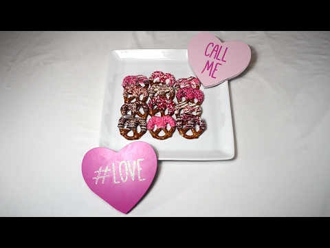 How to make Chocolate Covered Pretzels for Valentine's Day