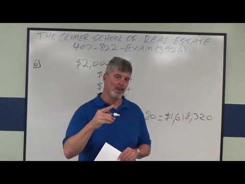 Broker Real Estate Math Practice Exam No 6 Depreciation Calculation