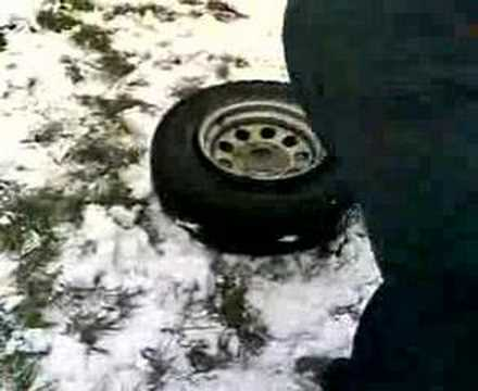 Putting a tyre back on the rim