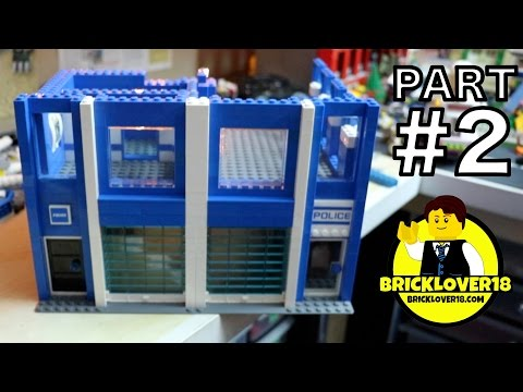 BUILDING a LEGO POLICE STATION - PART 2/4