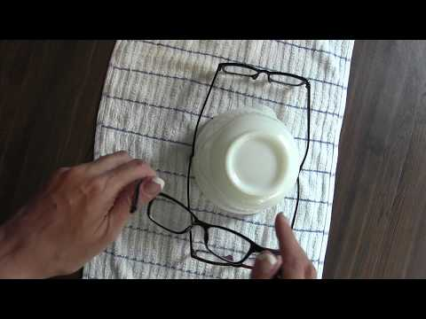 Eye Glasses Plastic stretch out make bigger  quick easy How to