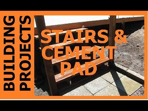 HOMESTEAD BUILDING PROJECTS - The Barn Stairs & Pad