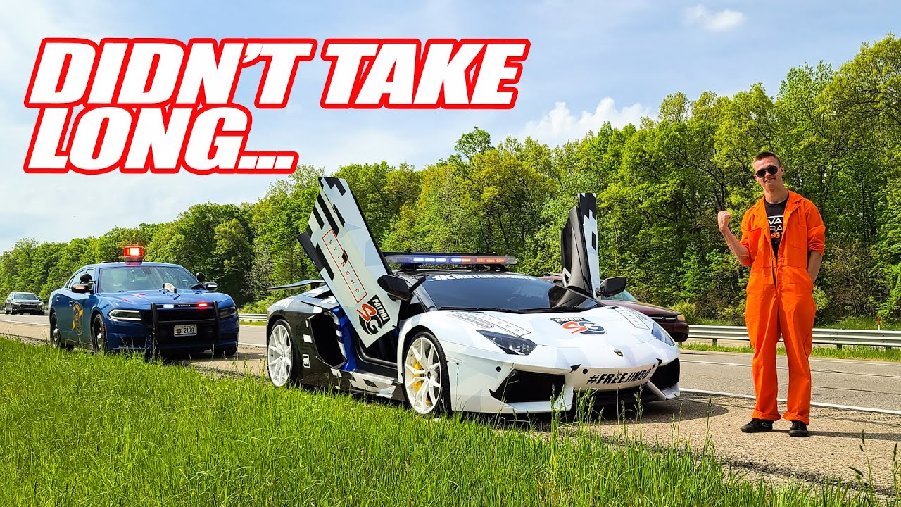 LAMBORGHINI COP GETS PULLED OVER BY MICHIGAN STATE POLICE!!