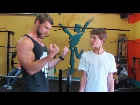Teen Beginners Bodybuilding Training - Upper Body  - Chest, Arms, Shoulders