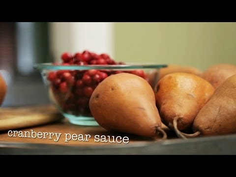 Cranberry and Pear Sauce