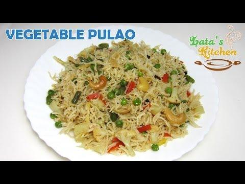Vegetable Pulao Recipe Video ( Veggie Pulav Rice ) — Indian Vegetarian Recipe - Lata's Kitchen