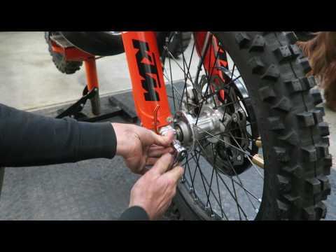KTM Dirt Bike Front Wheel Installation
