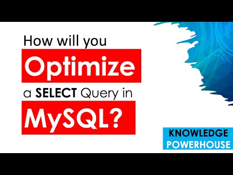 How will you optimize a SELECT query in MySQL?