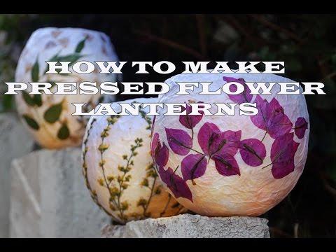 DIY How to Make Pressed Flower Lanterns
