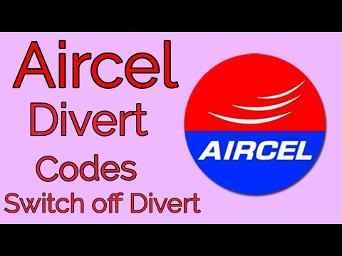 aircel divert codes || 2017