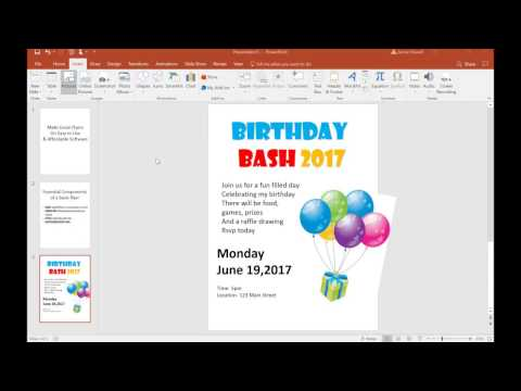 TUTORIAL- Make a Flyer on PowerPoint (BASIC)