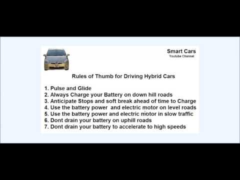Rules of thumb for Driving Hybrid Cars