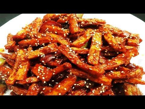 Honey Chilli Potato   Homemade Crispy Honey Chilli Potato Recipe