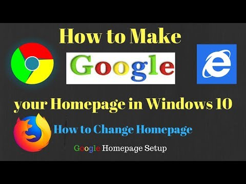 Make Google your Homepage in Windows10 | Change Homepage in Windows10| Google Homepage Setup