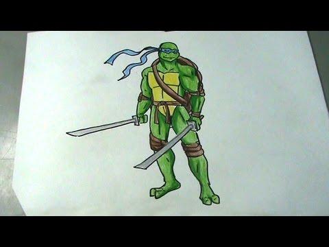 Aprende A Dibujar Una Tortuga Ninja Leonardo Pakvimnet