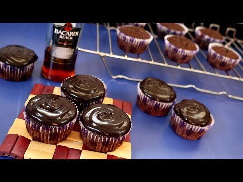 Chocolate Rum Cupcakes | Kitchen Time with Neha