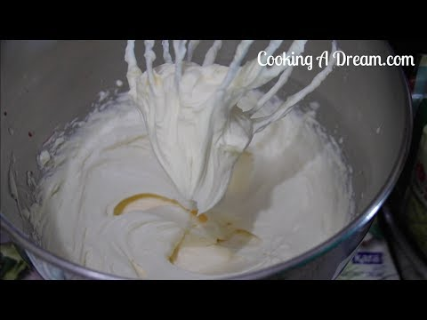 Cream Cheese Whipped Cream Frosting--Cooking A dream