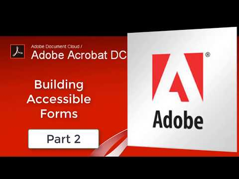 Accessibility Basics for Adobe Acrobat Pro forms (part 2)