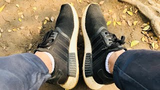 new product e7a58 2901e Adidas NMD R1 Core Black Gum 3 Unboxing + On Feet
