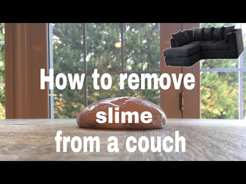 How to remove slime from a couch!