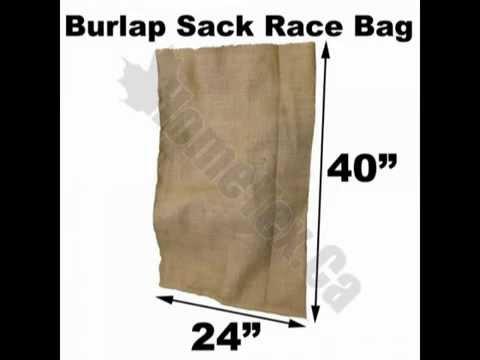 burlap sacks for sack races