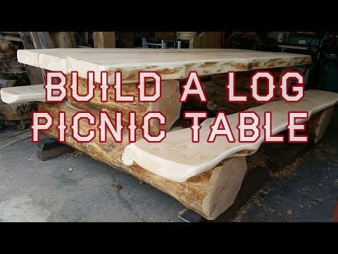 Log Picnic Table Build