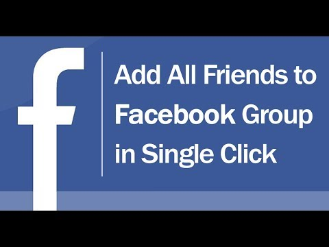 Add/Invite All Friends to Facebook Group Automatically in Single Click