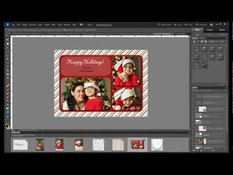 Tutorial: How to make a custom holiday photo card with photoshop elements