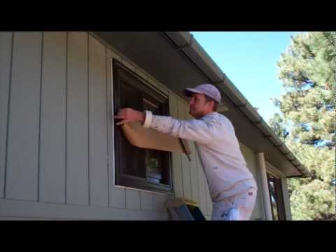 Exterior Painting Step 6: Masking the House and Placing Drop Cloths
