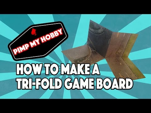 How to make a Tri-fold game board for the Walking Dead All Out War - Pimp My Hobby