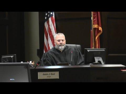 Dawson Co. Superior Court Judge Jason J. Deal calls calendar for journalist Nydia Tisdale 09/07/17