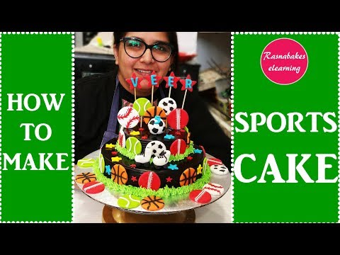how to make sports theme cake : Cake Decorating tutorial